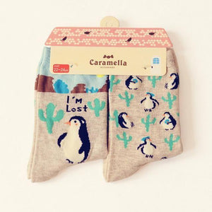 Cute Animal Pattern Socks - 2 Pairs Image 7 / China Free Size