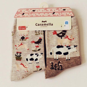 Cute Animal Pattern Socks - 2 Pairs Image 8 / China Free Size