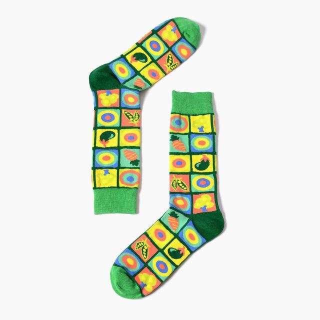 European Socks Fruit Green Mo / All Code