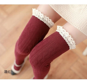 High Stockings Wine Red