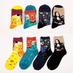 Mona Lisa Painting Socks