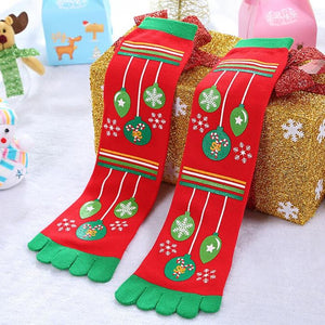 Toe Christmas Socks