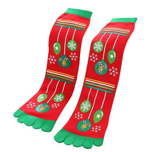 Toe Christmas Socks Red / Free Size