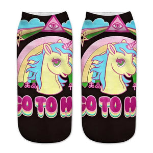 Unicorn Socks Khaki