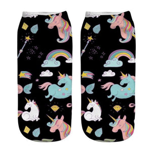 Unicorn Socks Red
