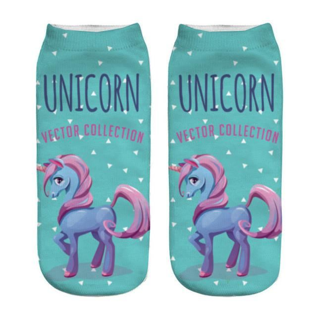 Unicorn Socks Silver