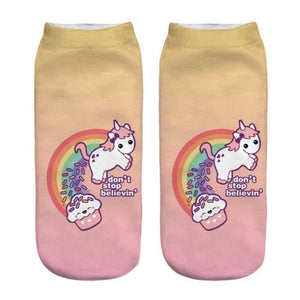 Unicorn Socks Yellow