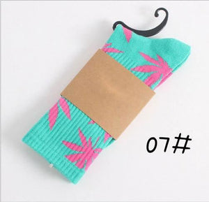 Weed Design Socks 07 / One Size