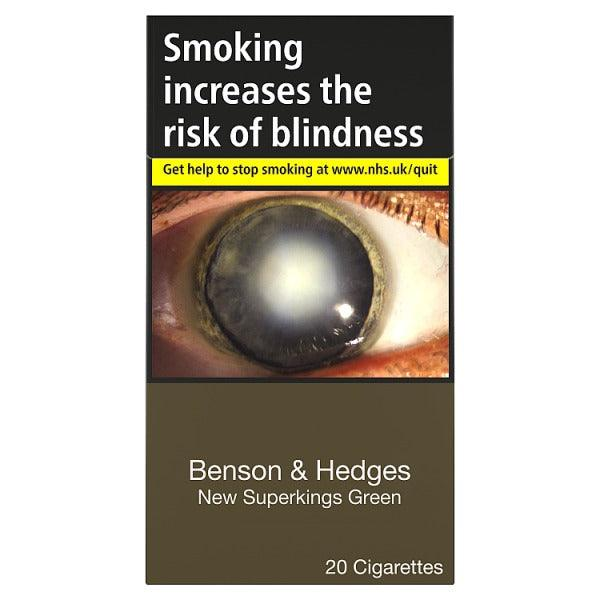 Benson & Hedges New Superkings Green Cigarettes