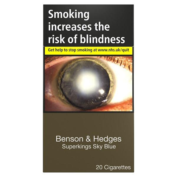 Benson & Hedges Superkings Sky Blue Cigarettes