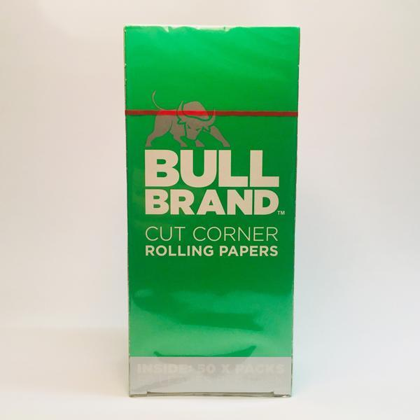 Bull Brand Green Rolling Papers x 50
