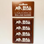 Bull Brand Liquorice Rolling Papers 4 Pack