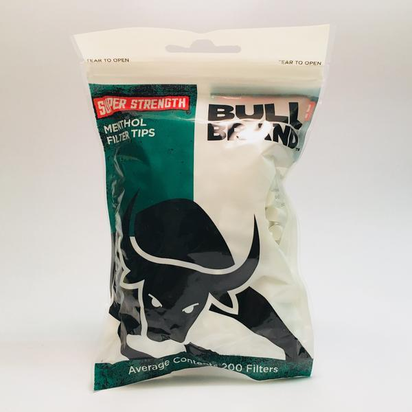 Bull Brand Super Strength Menthol Tips 200 Bag