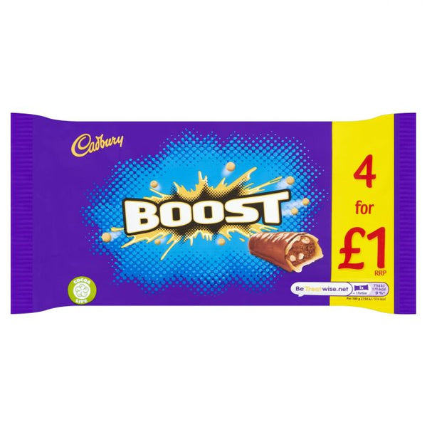 Cadbury Boost Chocolate Bars 4 Pack