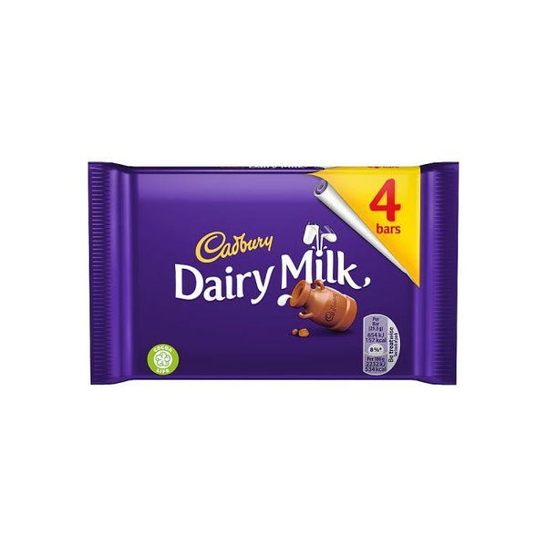 Cadbury Dairy Milk Chocolate Bars 4 Pack