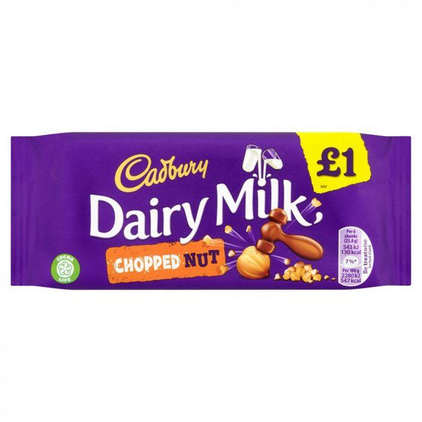 Cadbury Dairy Milk Chopped Nut Chocolate Bar 120g