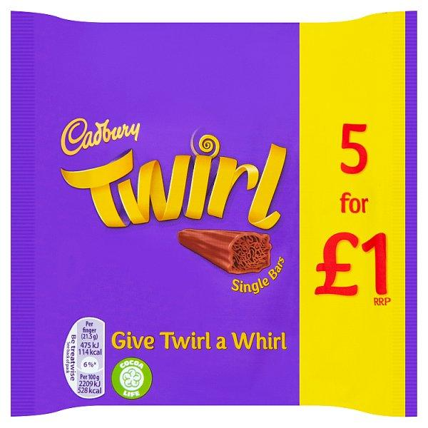 Twirl Bars 5 for £1.00