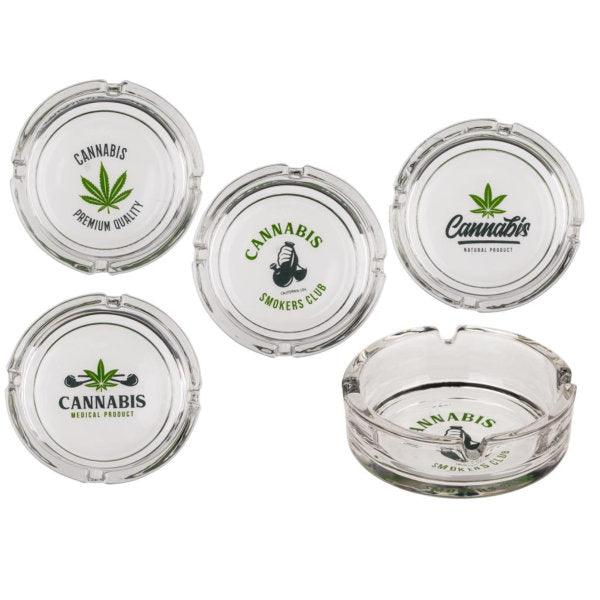 Cannabis Glass Ashtray