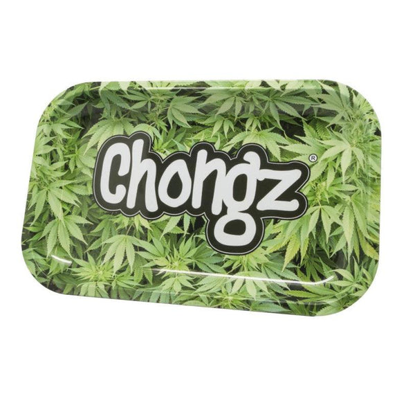 Green Leaf Metal Rolling Tray