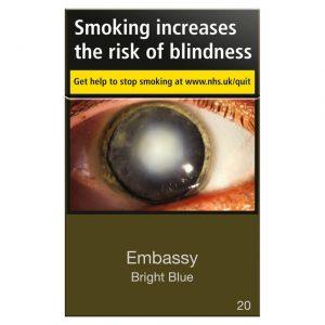 Embassy Bright Blue King Size Cigarettes