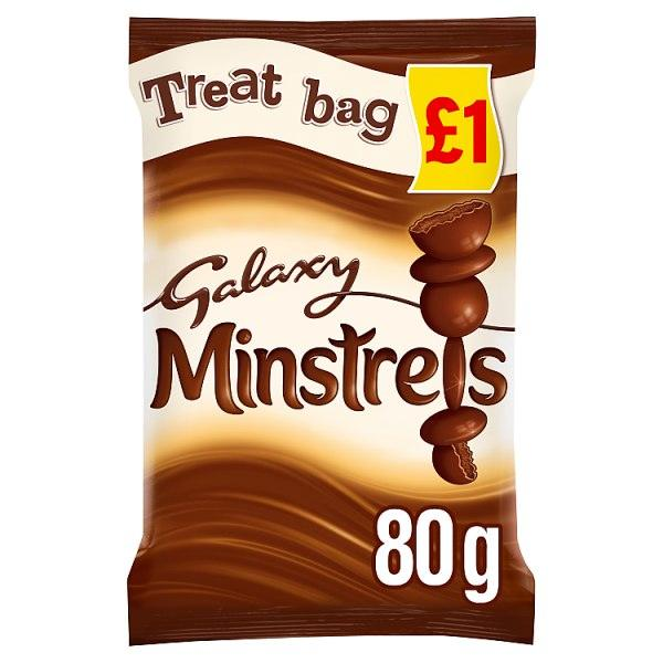 Galaxy Minstrels Chocolate £1 PMP Treat Bag 80g