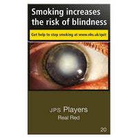 JPS Real Red Players King Size Cigarettes