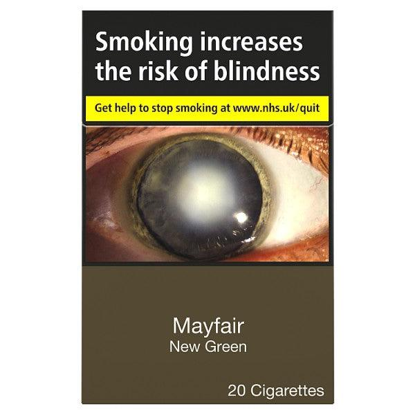 Mayfair New Green Cigarettes (Not Menthol)
