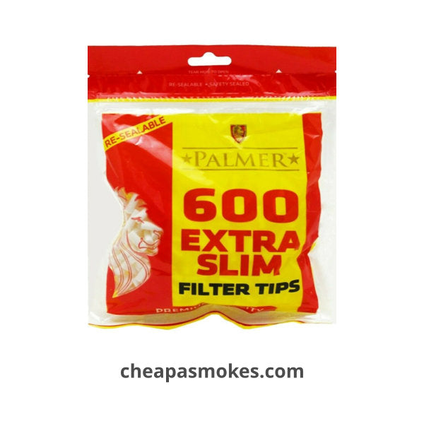Palmer Extra Slim Filter Tips 600's Bag