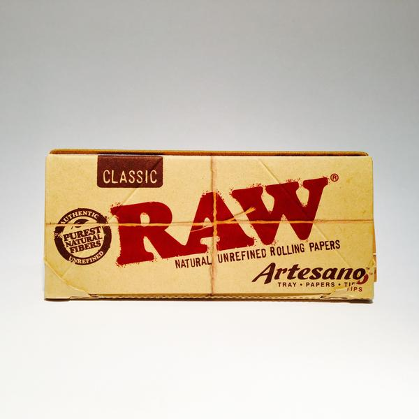Raw Classic Artesano King Size Rolling Papers and Tips