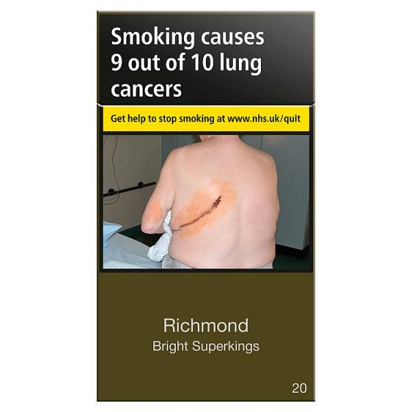 Richmond **Bright** Superkings Cigarettes