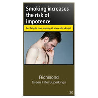 Richmond Green Filter Superking Cigarettes (Not Menthol)