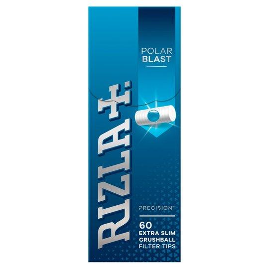 Rizla Polar Blast Crushball Extra Slim Filter Tips