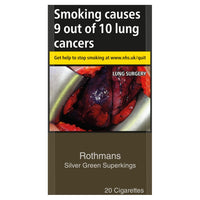 Rothmans Silver Green Superking Cigarettes (Not Menthol)
