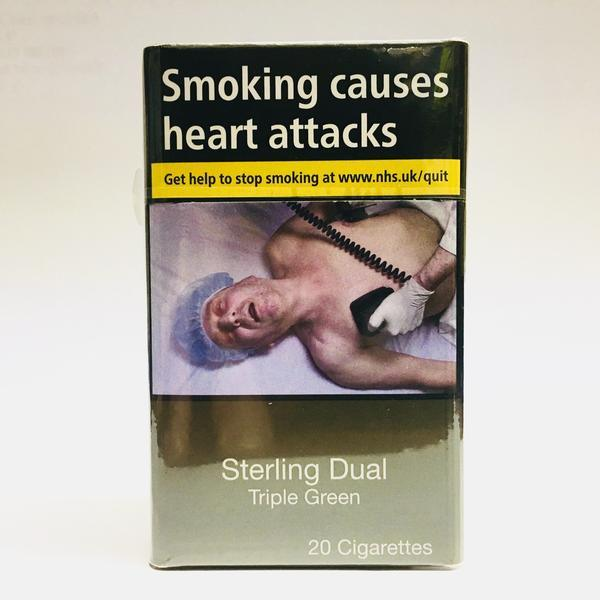 Sterling Dual Triple Green King Size Cigarettes Cheapasmokes Com
