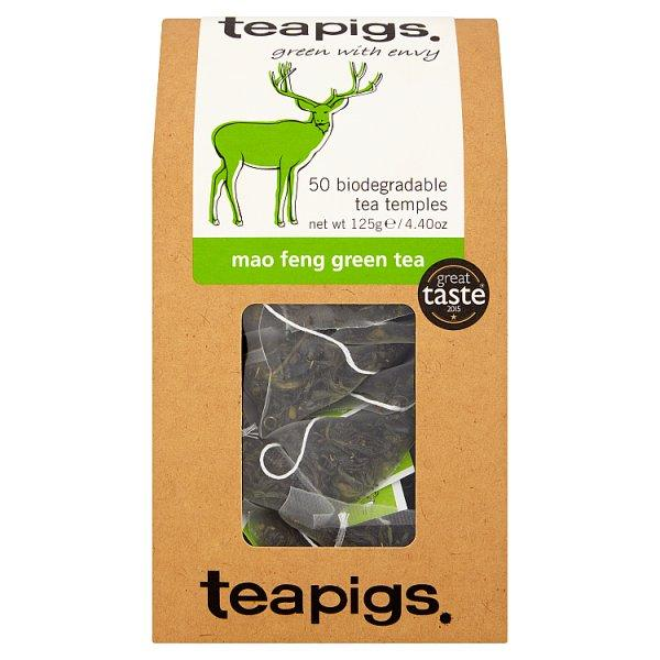 Teapigs Mao Feng Green Tea 50 Biodegradable Tea Temples 125g
