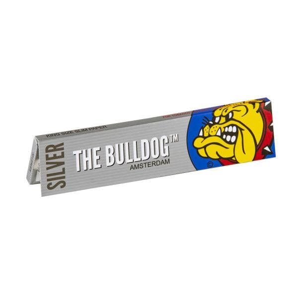 The Bulldog King Size Slim Silver Rolling Papers