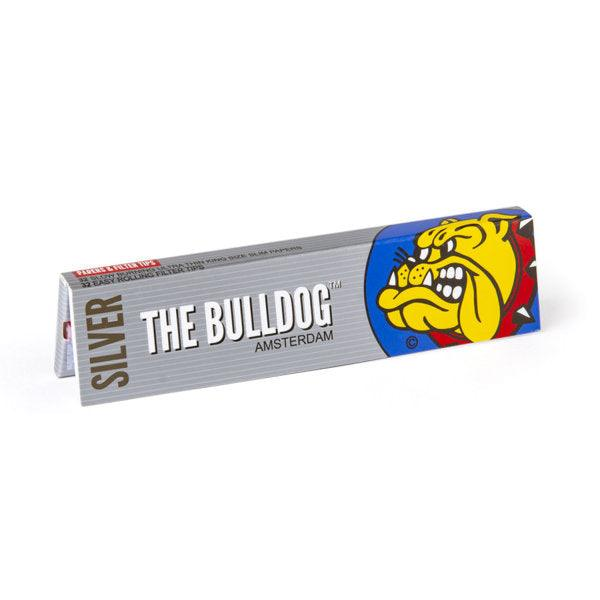 The Bulldog Rolling Paper King Size Slim Silver & Filter Tips