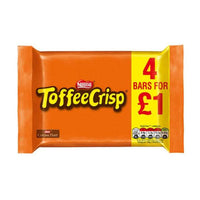 Toffee Crisp Milk Chocolate Bar 4 Pack