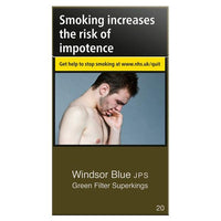 Windsor Blue Green Filter Superkings Cigarettes