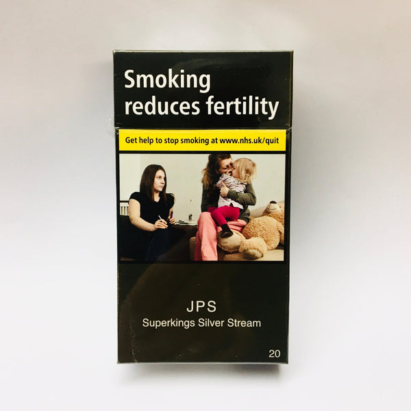 JPS Superkings Silver Stream Cigarettes