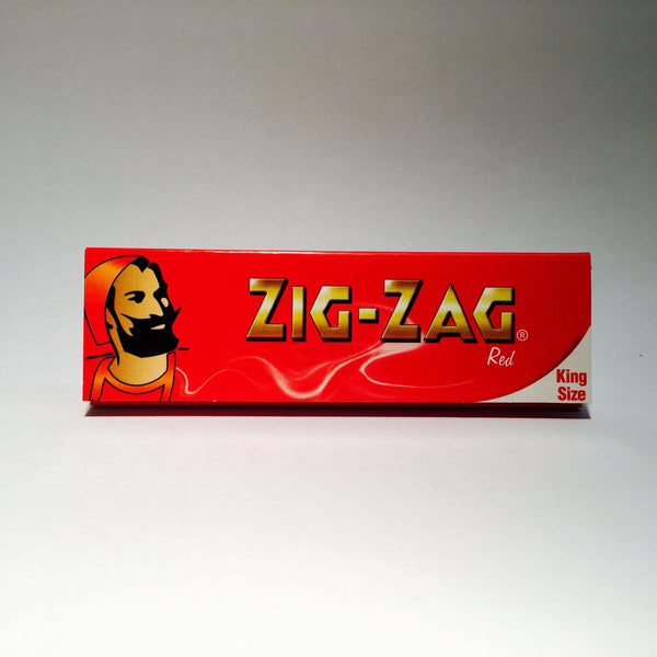 Zig Zag King Size Red Paper