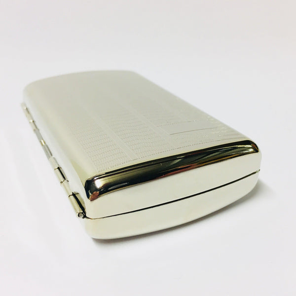 Chrome Cigarette Case Initial Panel Design