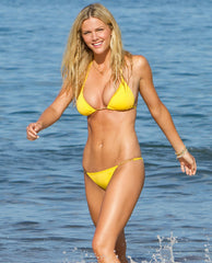 yellow bikini brooklyn decker
