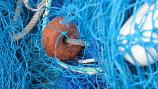 fishing nets made in to sustainable swimwear