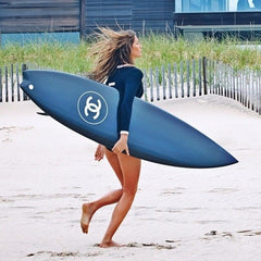 gisele bundchen chanel surfboard