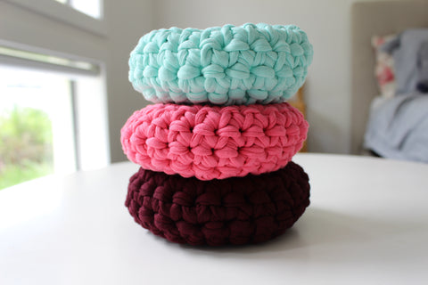 Crochet Baskets - Mini READY MADE