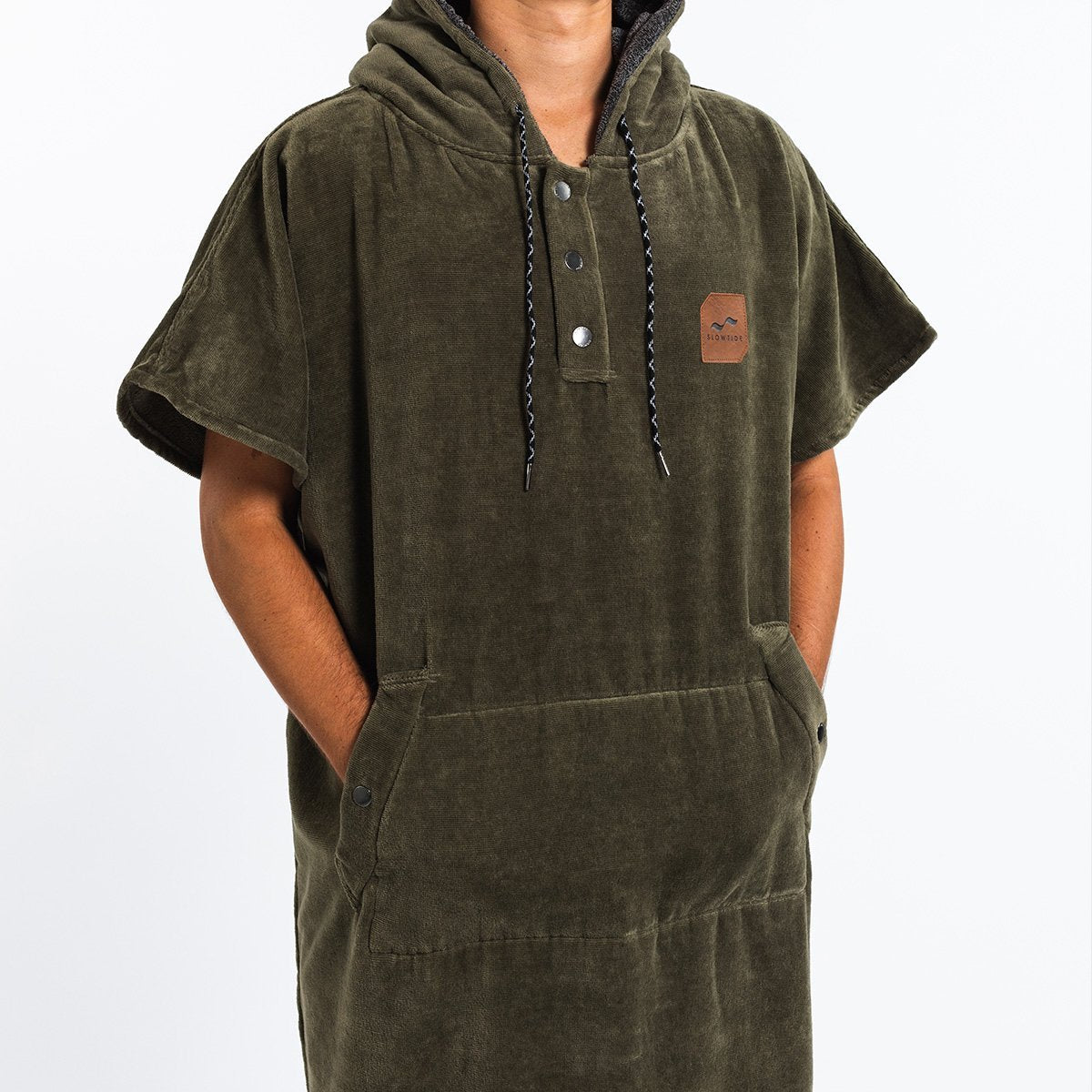 The Digs Changing Poncho - Green - Large