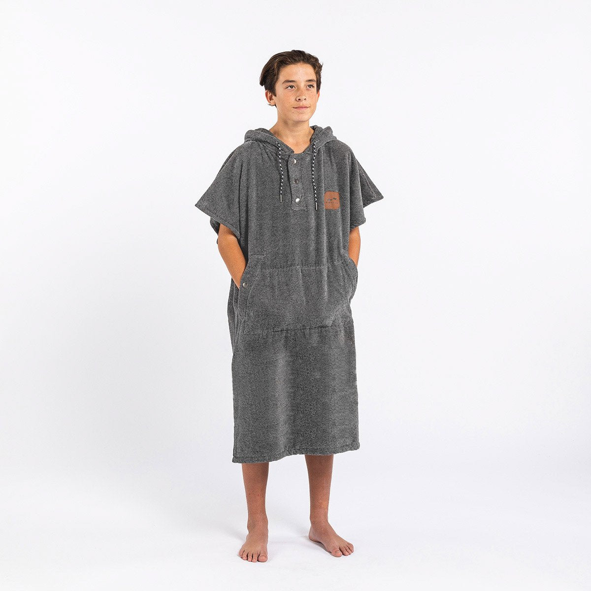 The Digs Changing Poncho - Heather Grey - Small