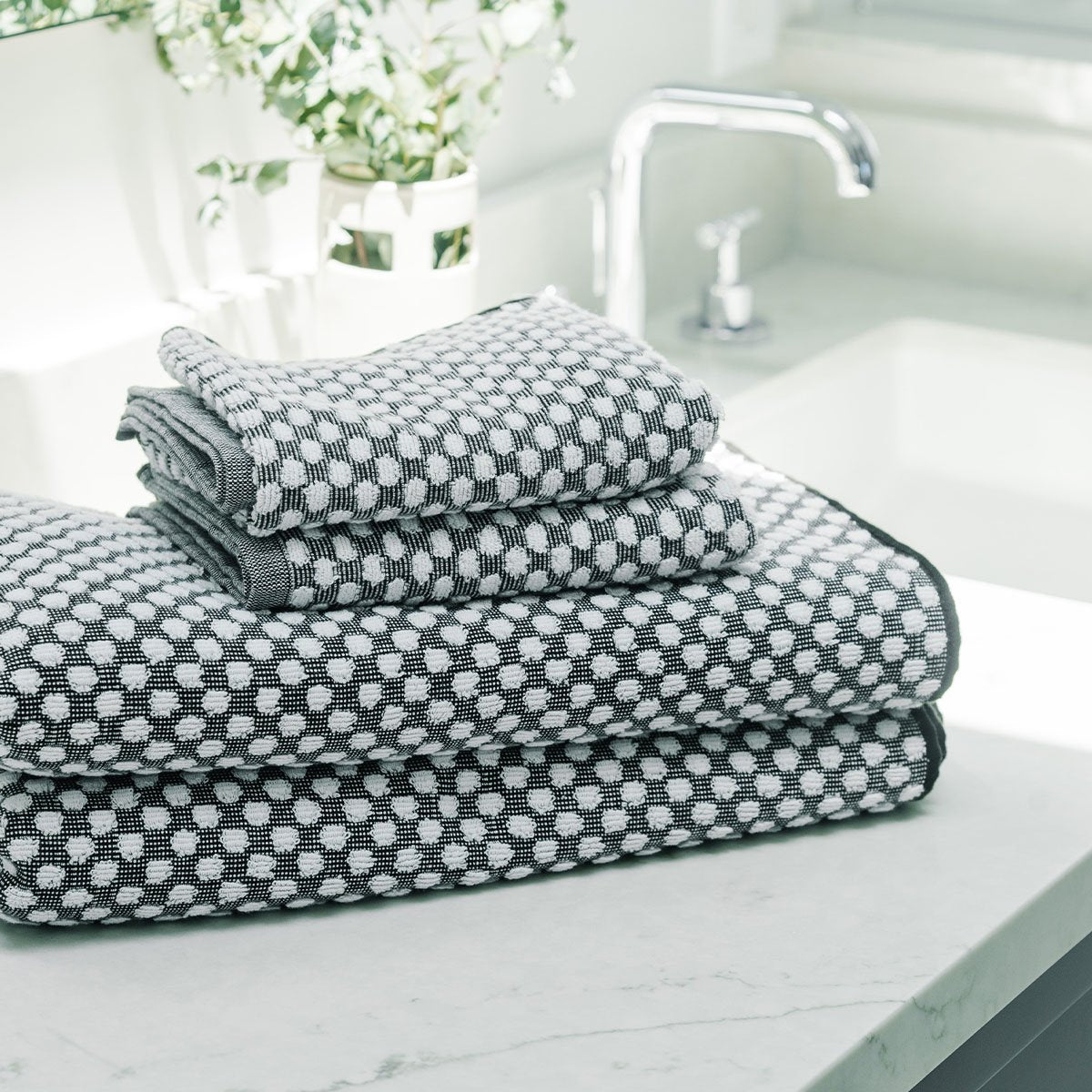 Clive Hand Towel - Stone