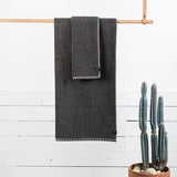 Luxe Hand Towel - Charcoal